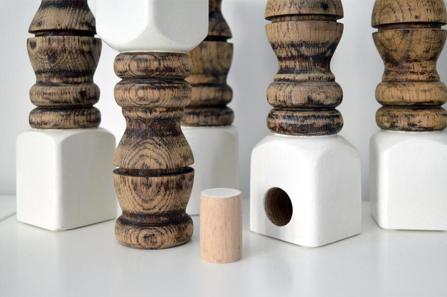 Poolumrandung Aus Holz Selber Machen ~ DIY  Kerzenständer aus Holz selber machen