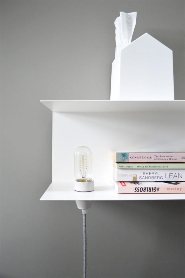 Nachttisch Lampe DIY Textilkabel (2)