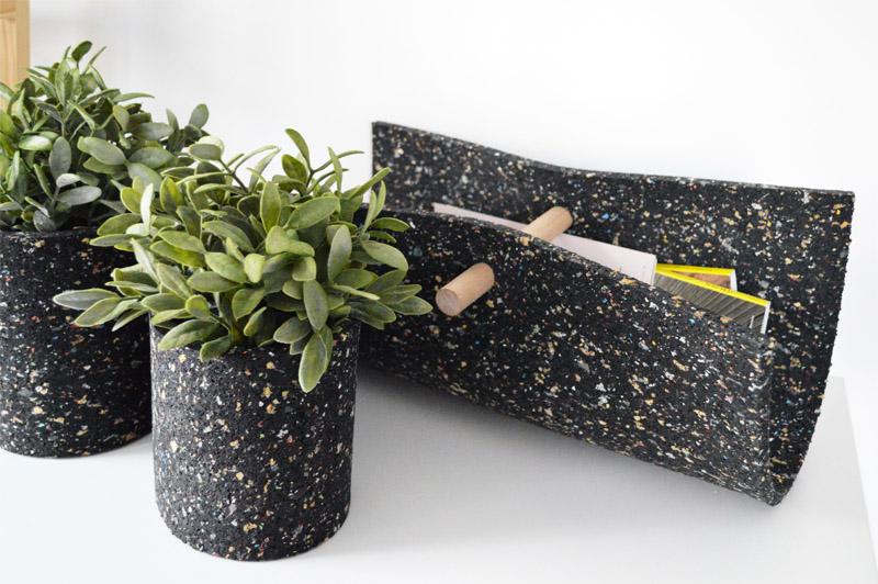 Diy aus waschmaschinenmatte drei auf einen streich for Blumentopf selbst gestalten