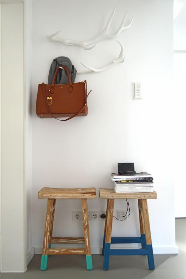 HK Living Hocker Hirschgeweih Garderobe DIY