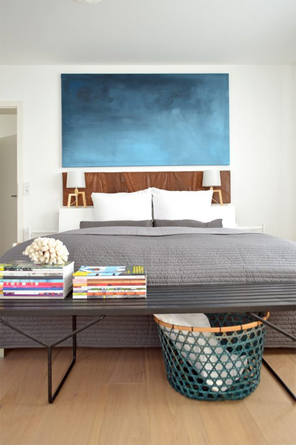 Wohnen mit Bildern Kunst im Schlafzimmer