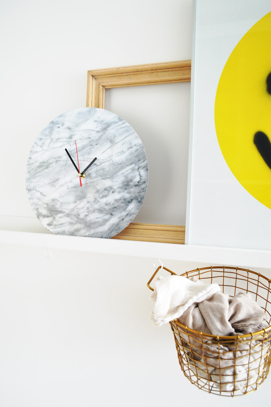 DIY marble wall clock