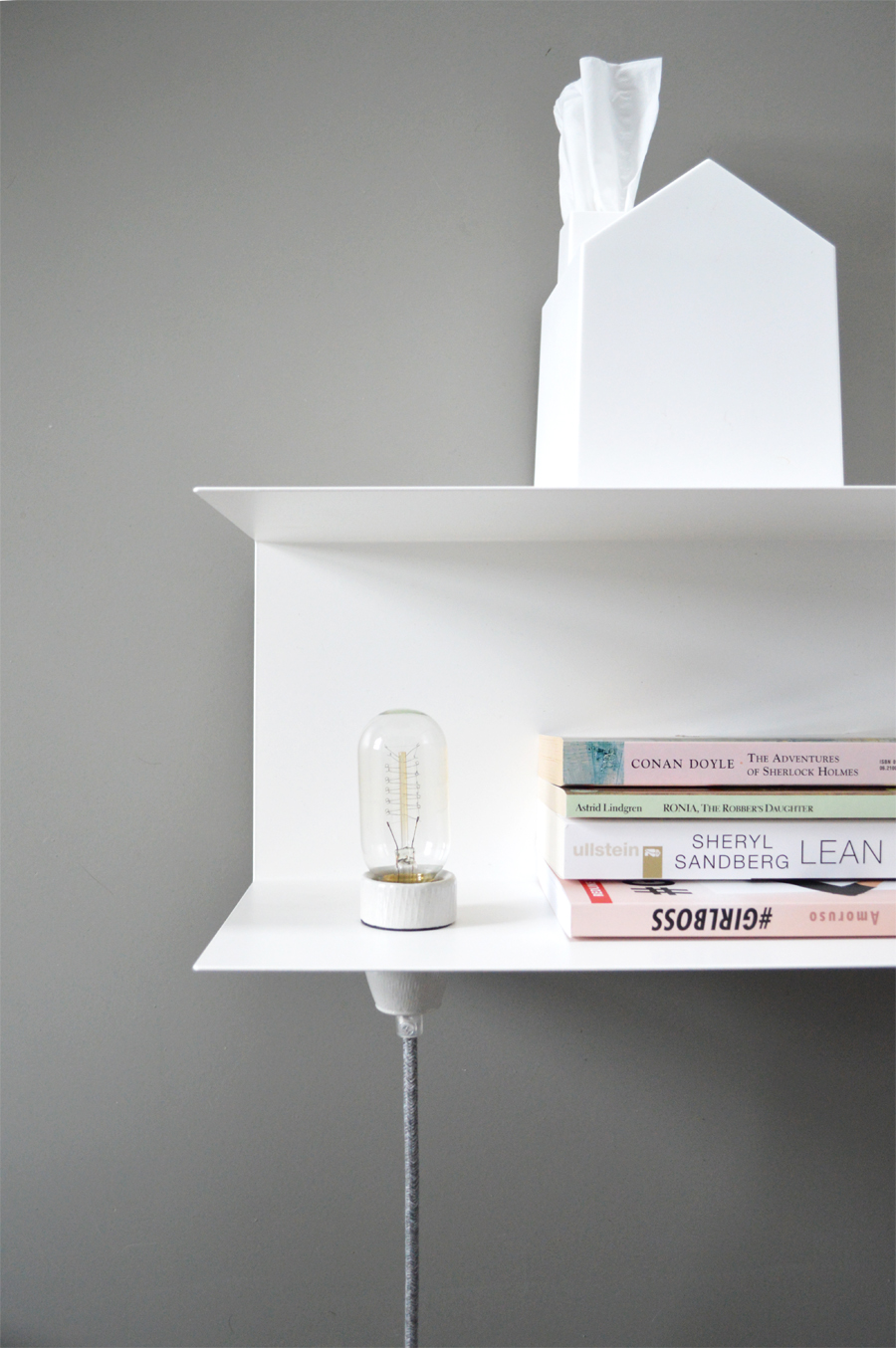 DIY bedside table lamp