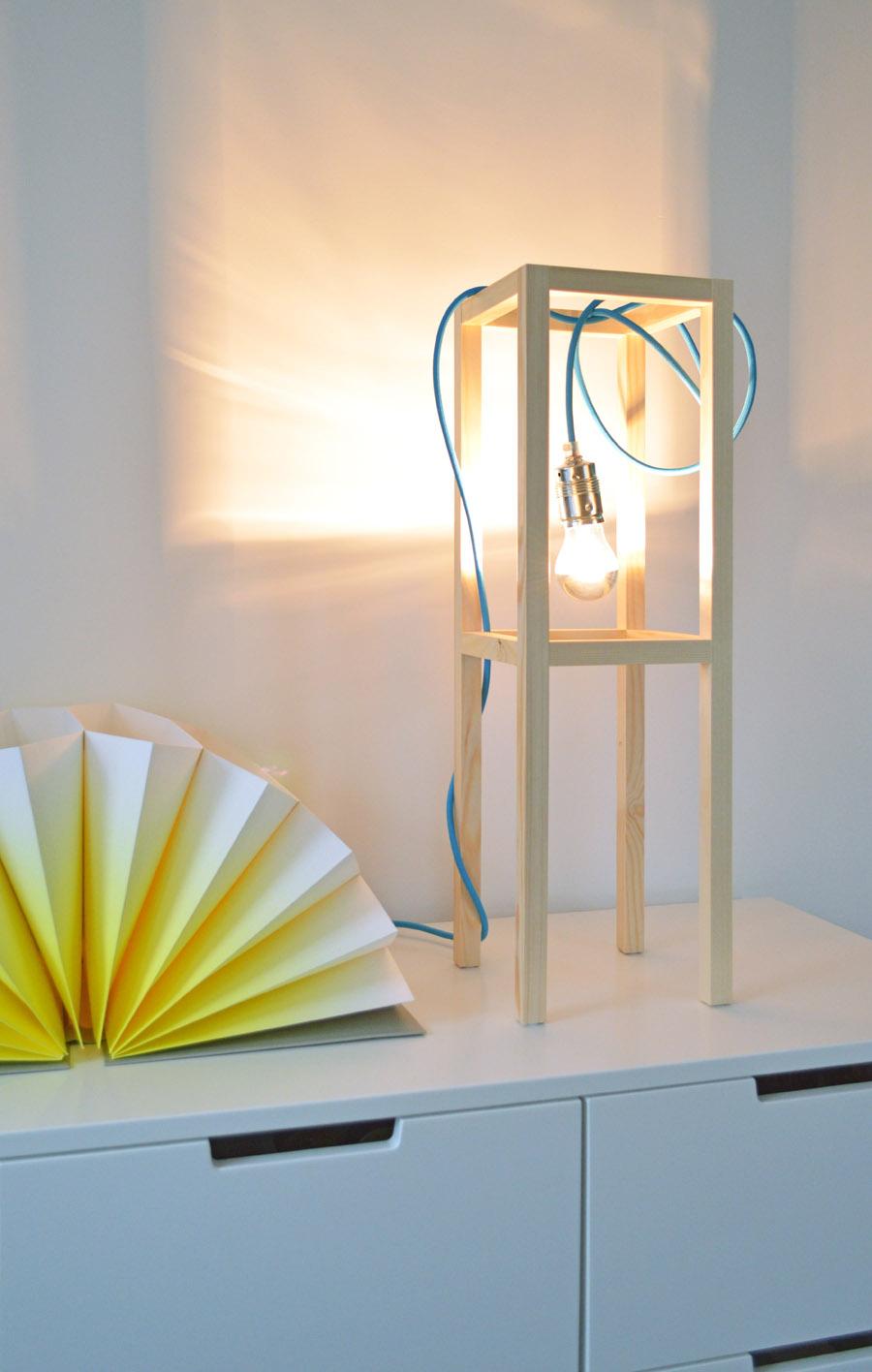 DIY Lampe Tischleuchte selber machen - ICH DESIGNER