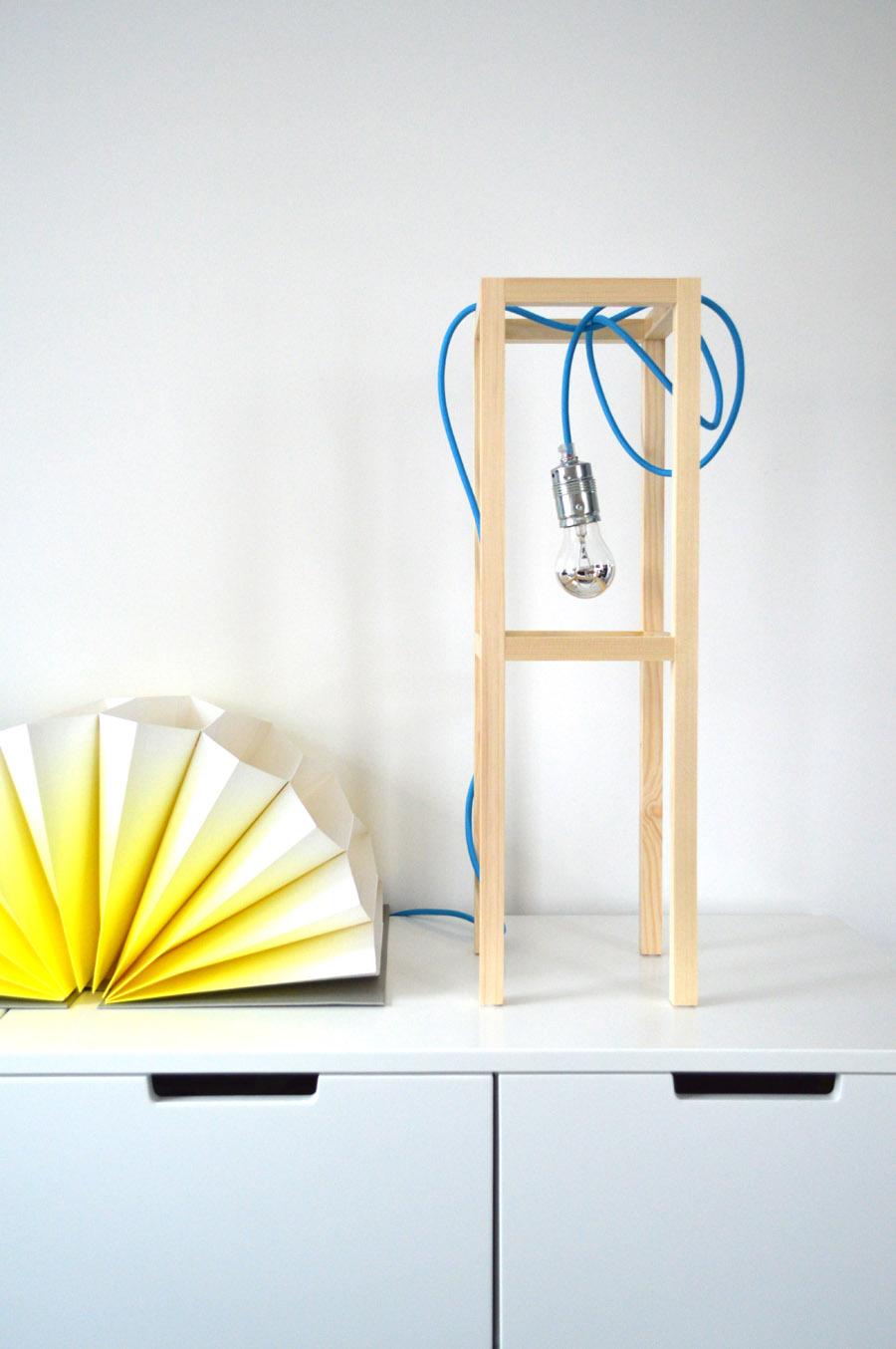 Diy Lampe Tischleuchte Selber Machen Ich Designer