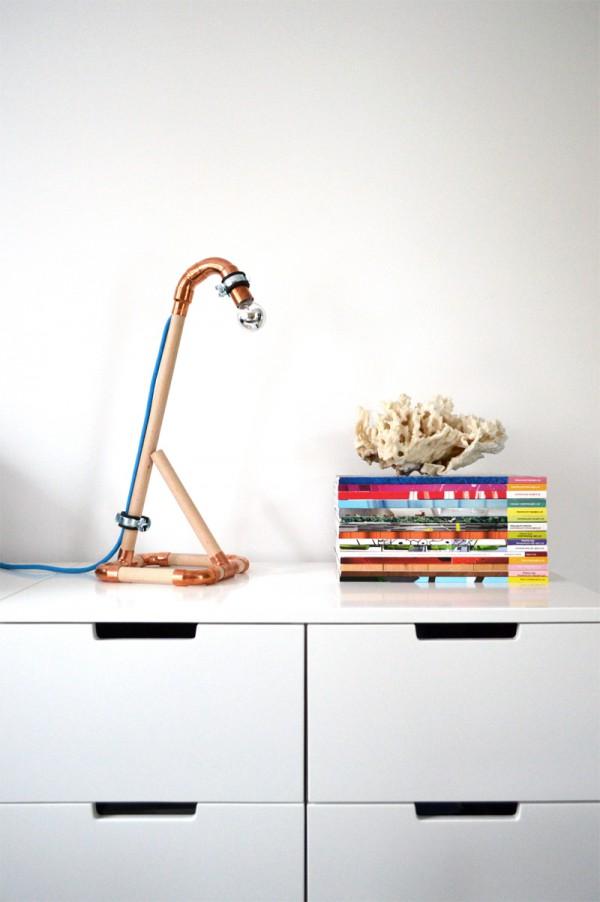 DIY Lampe Kupfer Holz2
