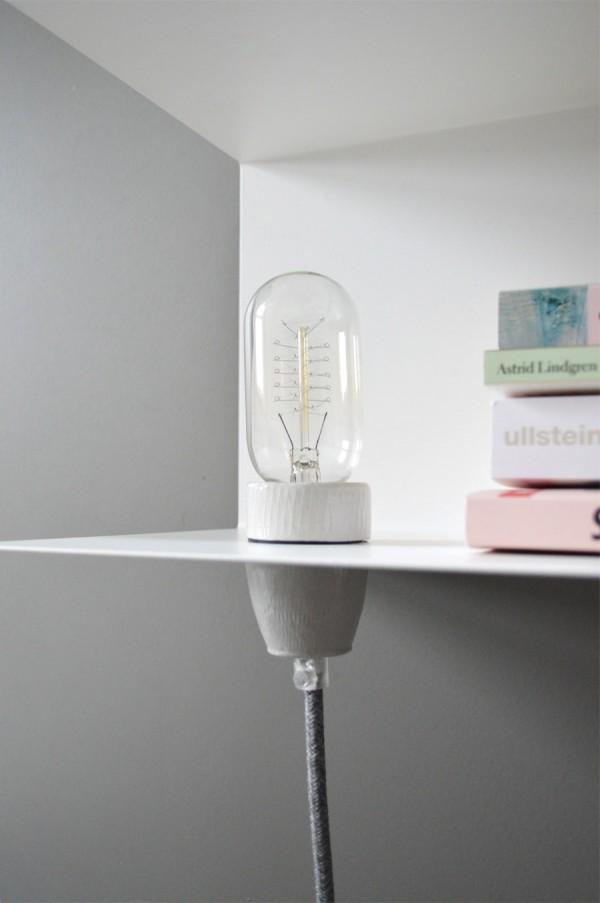 Nachttisch Lampe DIY Textilkabel (13)