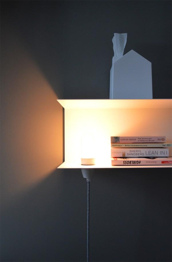 Nachttisch Lampe DIY Textilkabel (3)