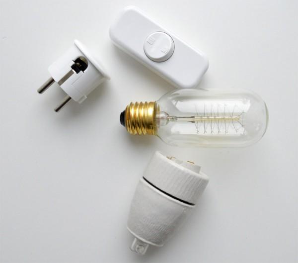 Nachttisch Lampe DIY Textilkabel (5)