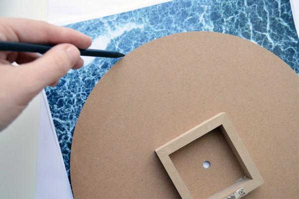 Marmor Uhr selber machen DIY Photo Patch (11)