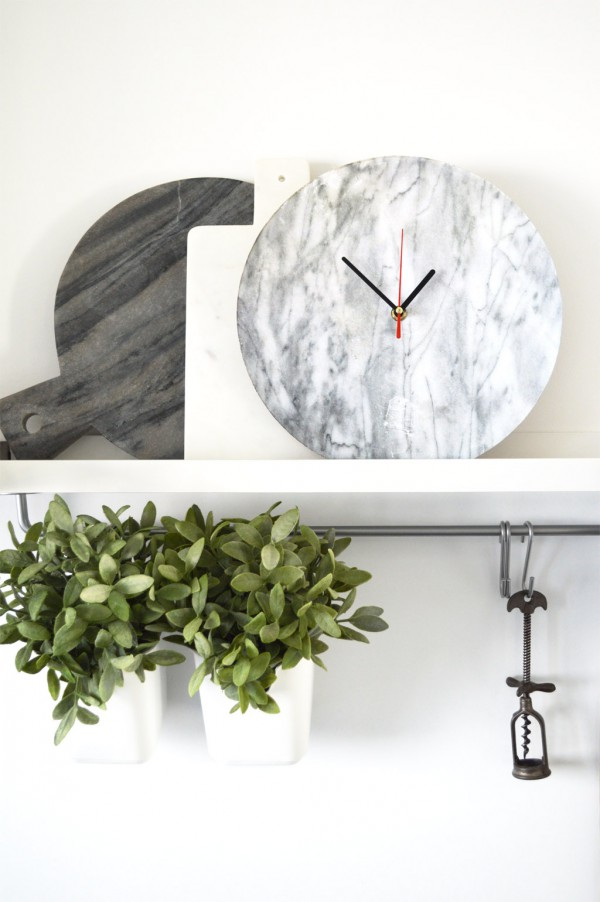 Marmor Uhr selber machen DIY Photo Patch (4)