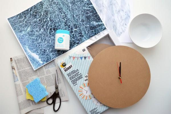 Marmor Uhr selber machen DIY Photo Patch (5)