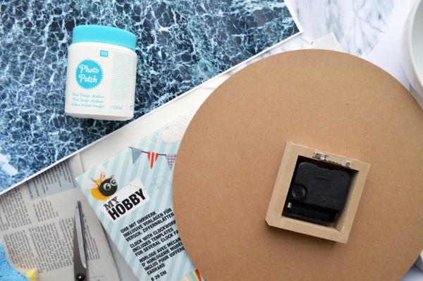 Marmor Uhr selber machen DIY Photo Patch (7)