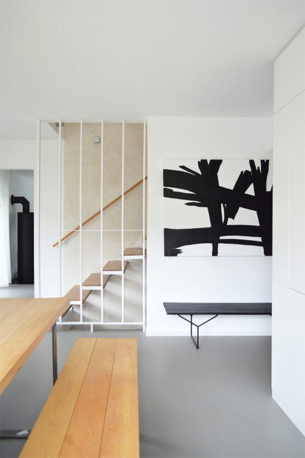 schwarz weiss Interior minimalistisch