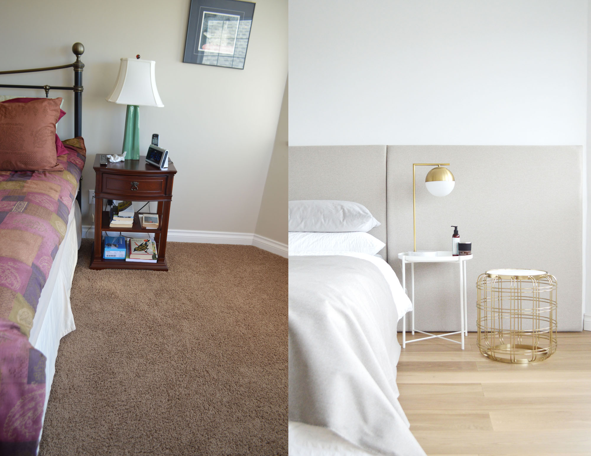 Schlafzimmer Vorher Nachher - Master Bedroom Before & After